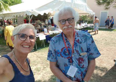 Audrey et Serge Letendre au festivalde la bd à Fabrègues